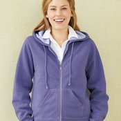 Ladies' Pigment-Dyed Full-Zip Hooded Sweatshirt